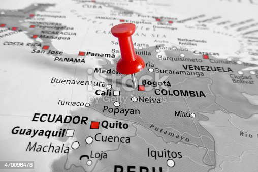 istock Red marker over Colombia 470096478