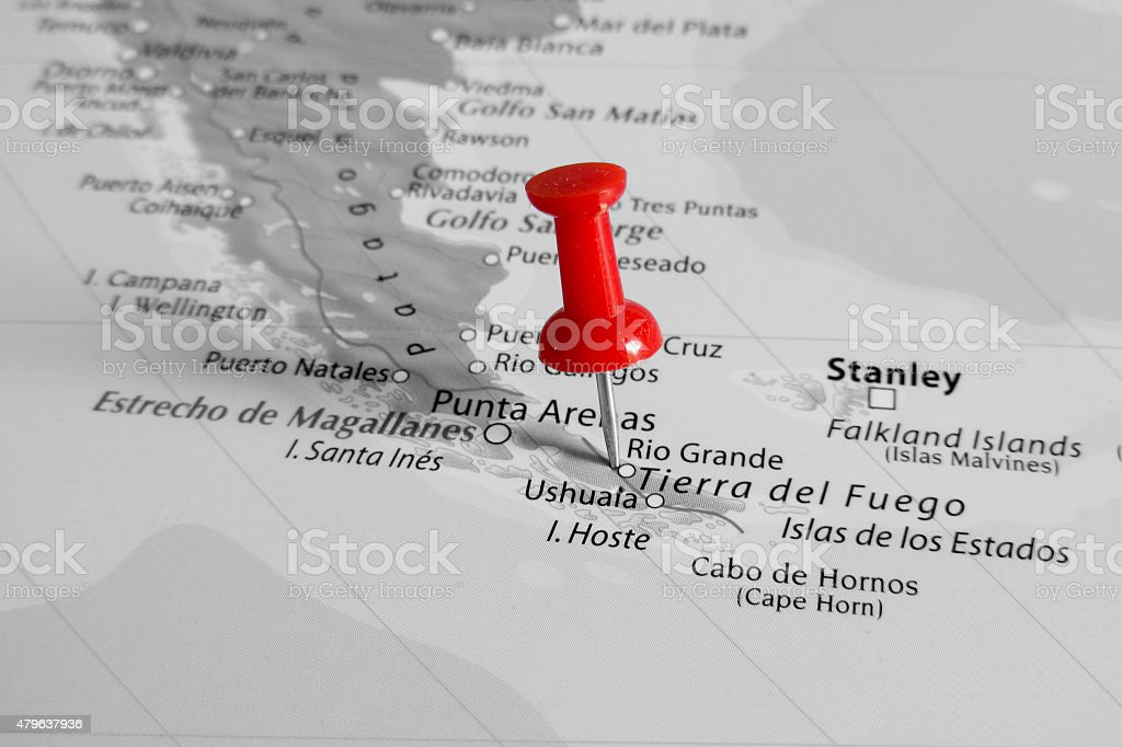 Red Marker Over Patagonia Stock Photo More Pictures Of 2015 Istock