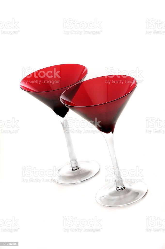 red martini glasses royalty-free stock photo