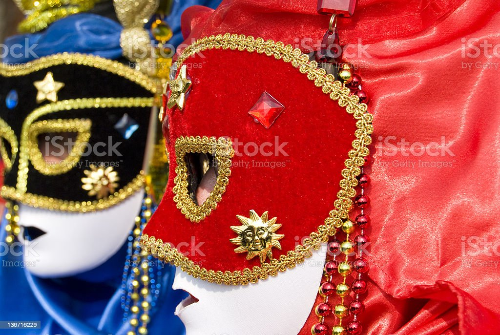 Red mask royalty-free stock photo