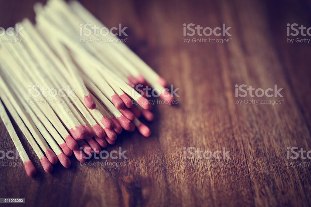 Red matches background stock photo