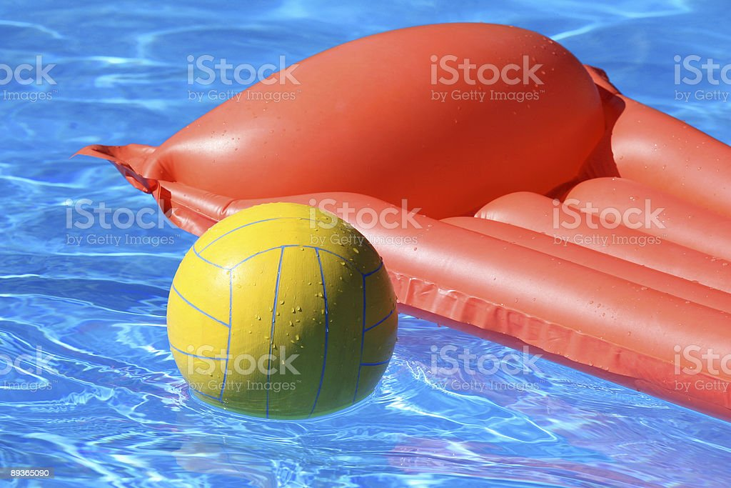 Red mattress and ball royalty-free stock photo