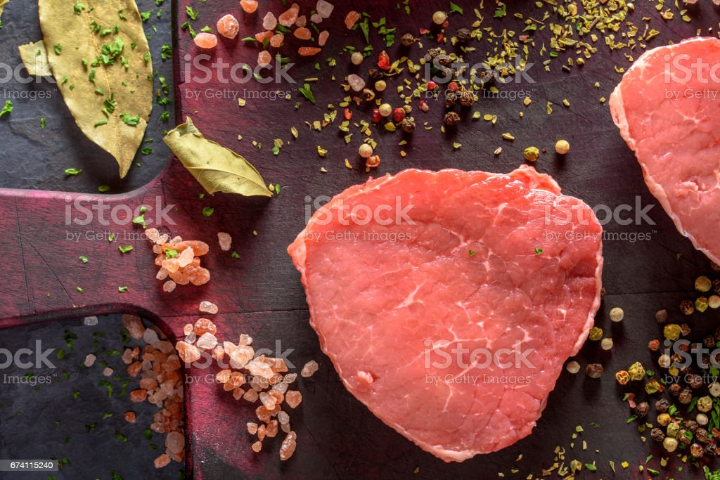 Red Meat and Spices royalty-free stock photo