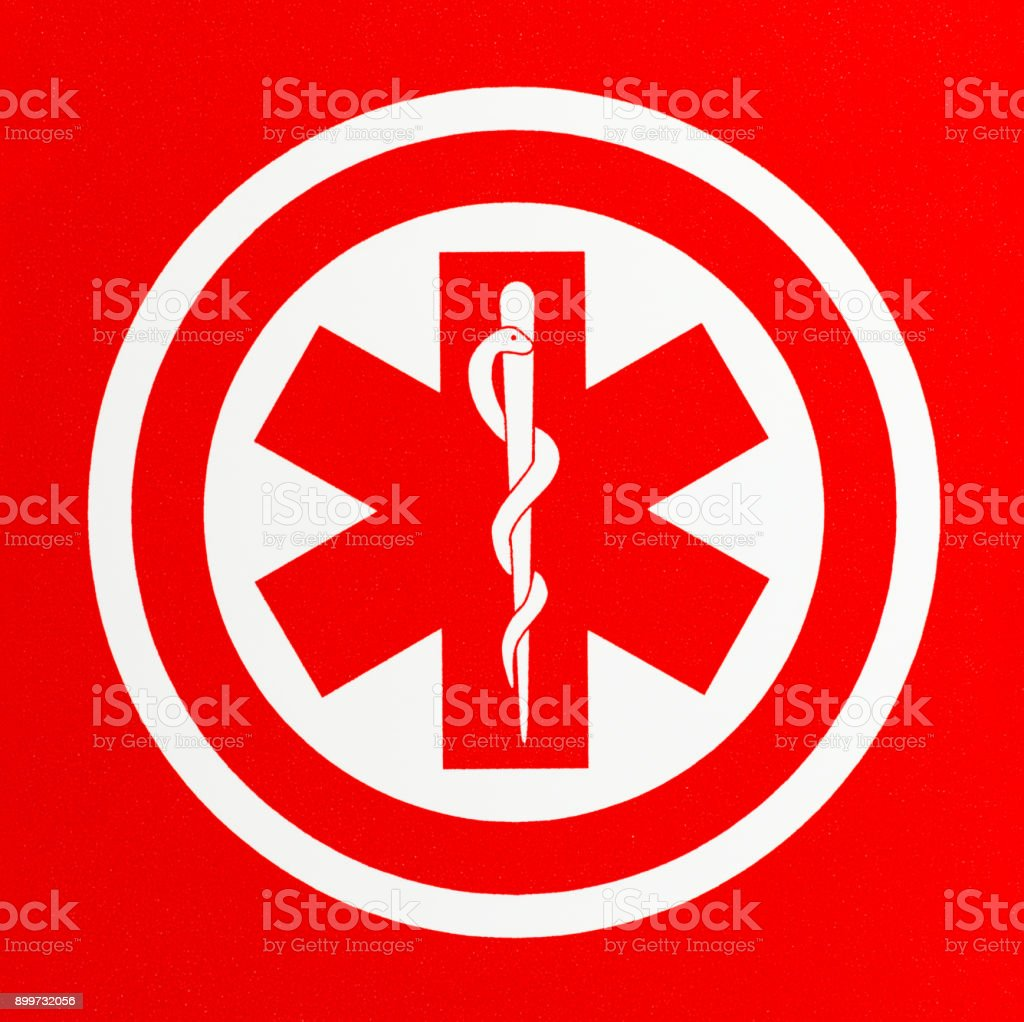 Red Medical Symbol stock photo