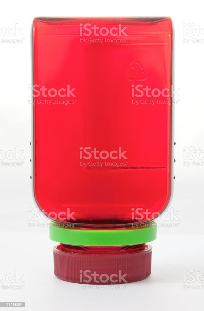 Red Medicine Bottle stock photo