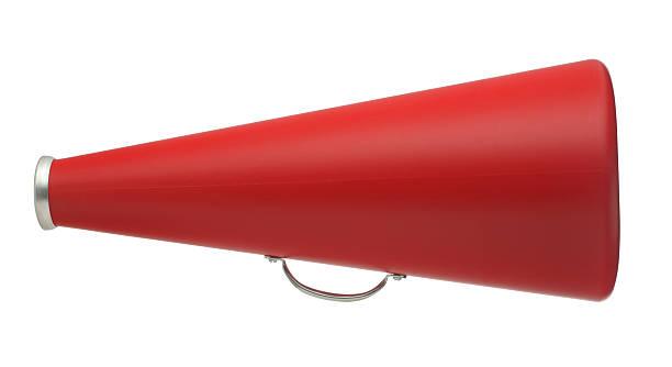 red megaphone - megafon stok fotoğraflar ve resimler