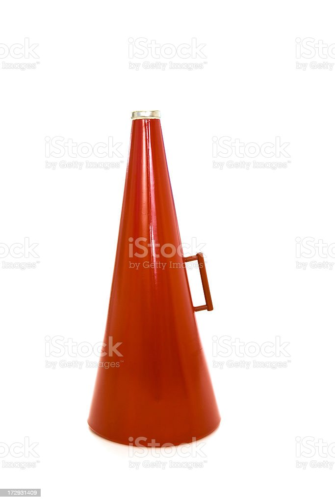 Red megaphone royalty-free stock photo