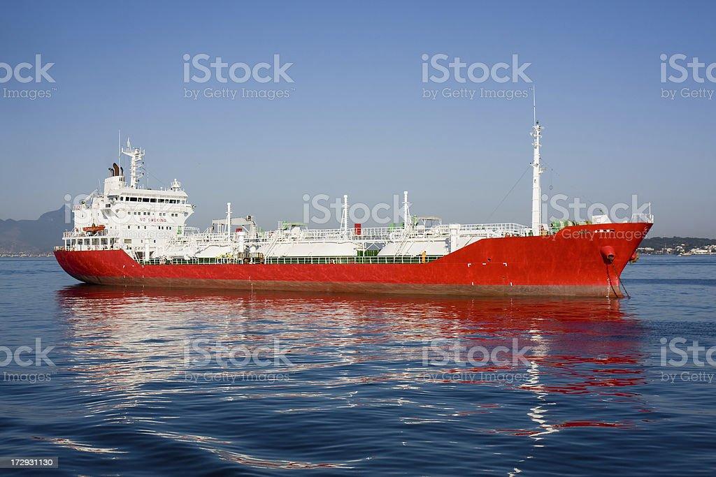 Red Merchant Ship royalty-free stock photo
