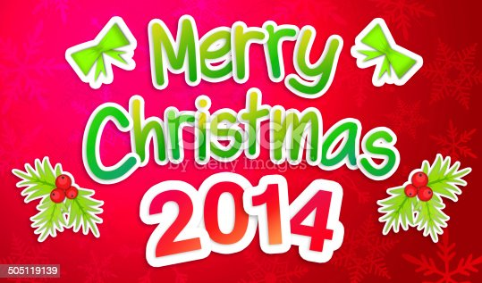 527392693 istock photo Red Merry Christmas Greeting Art Paper Card 505119139