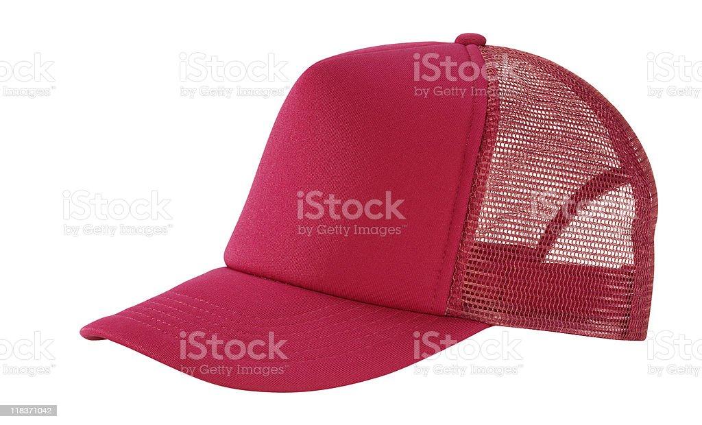 Red Mesh Baseball Cap royalty-free stock photo