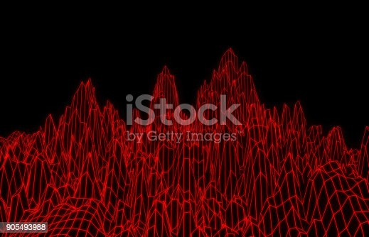 istock Red mesh mountain 905493988