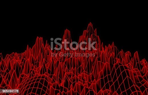 istock Red mesh mountain 905494178