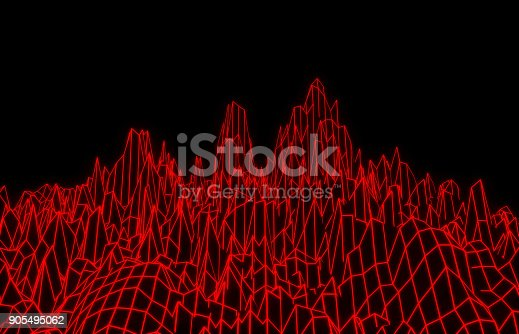 istock Red mesh mountains 905495062
