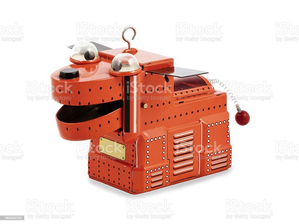 Red metal dog toy robot royalty-free stock photo