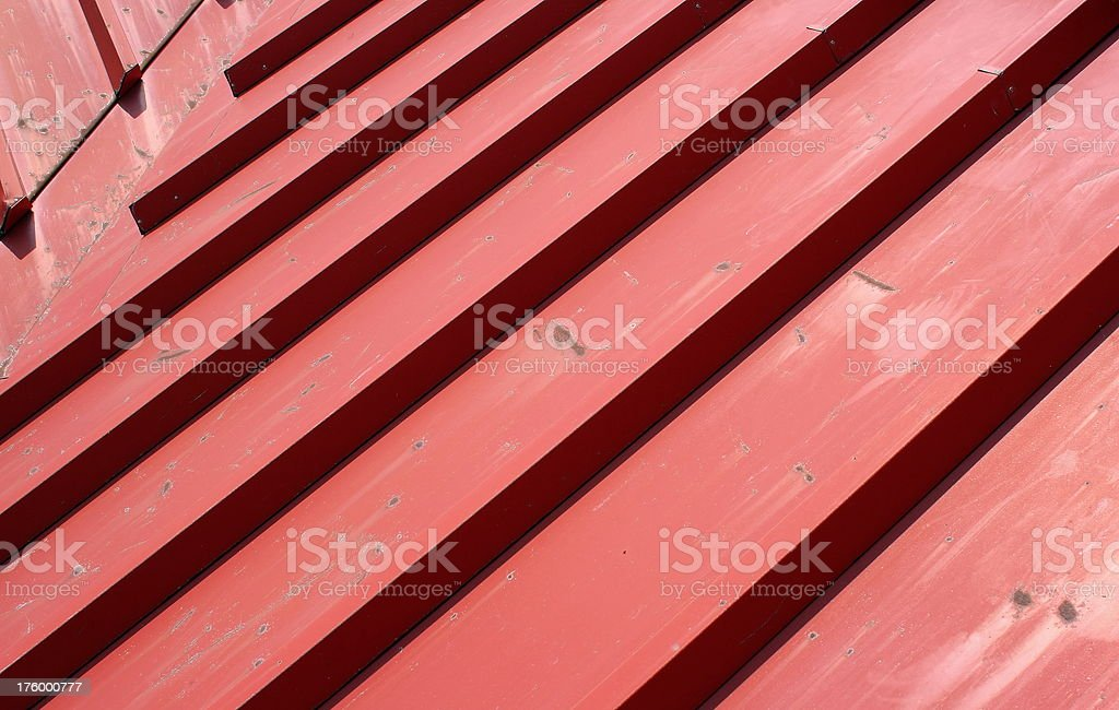 Red Metal Roof royalty-free stock photo