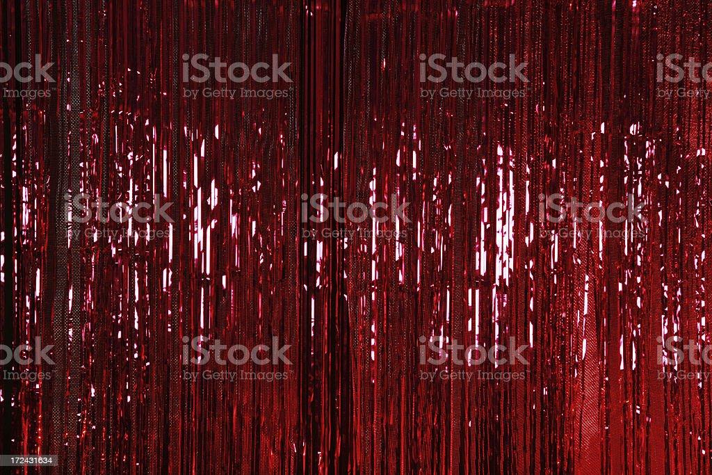 Red Metallic Curtain stock photo
