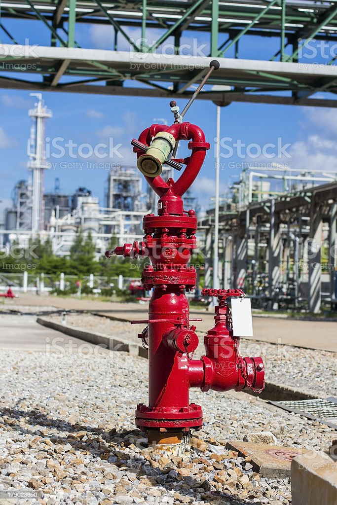 red metallic fire hydrant royalty-free stock photo