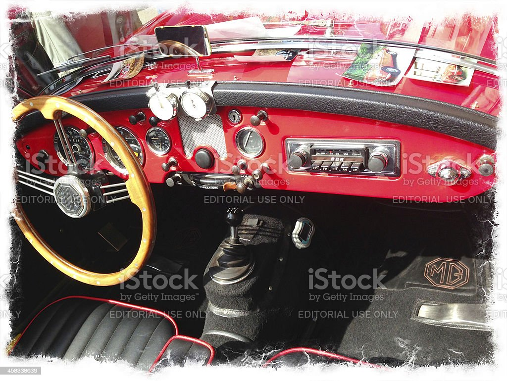 Red MG Two Seat Open Sports Car royalty-free stock photo