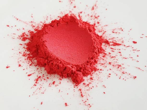 red mica pigment powder cosmetics - łupek łyszczykowy zdjęcia i obrazy z banku zdjęć