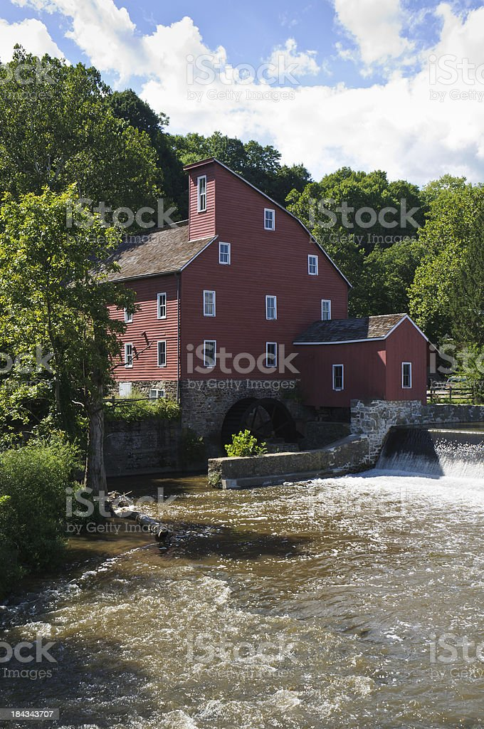 Red Mill of Clinton stock photo