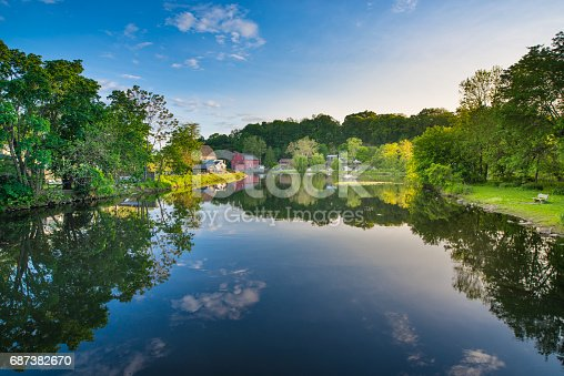 New Jersey, Summer, Waterfall, Clinton - New Jersey, River
