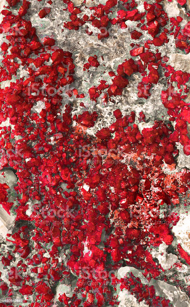red mineral stock photo