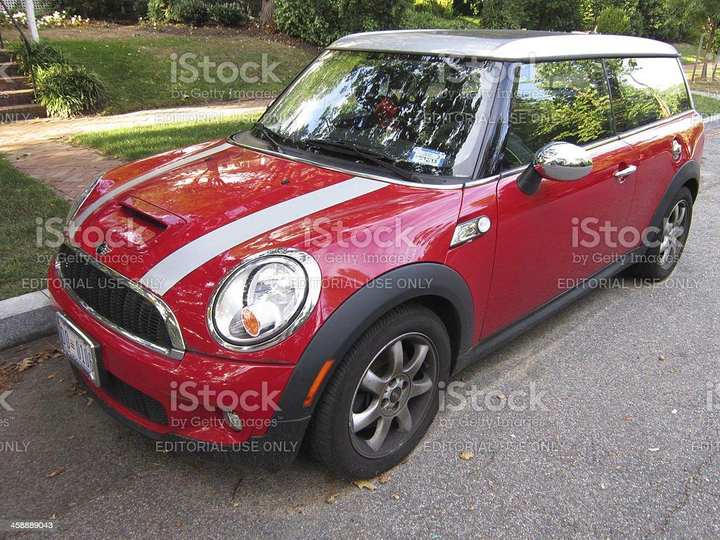 Red Mini Cooper Sports Car stock photo
