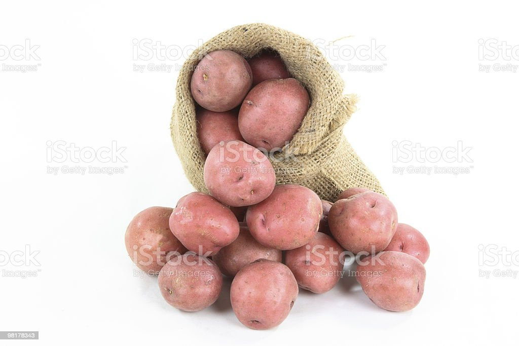 Red mini potatoes - horizontal orientation. royalty-free stock photo