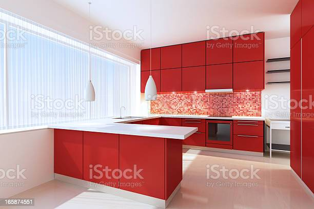 Red minimalist kitchen picture id165874551?b=1&k=6&m=165874551&s=612x612&h=s3pspoze6nhgsrffkcy144892muldhqdywtcef4 wjk=