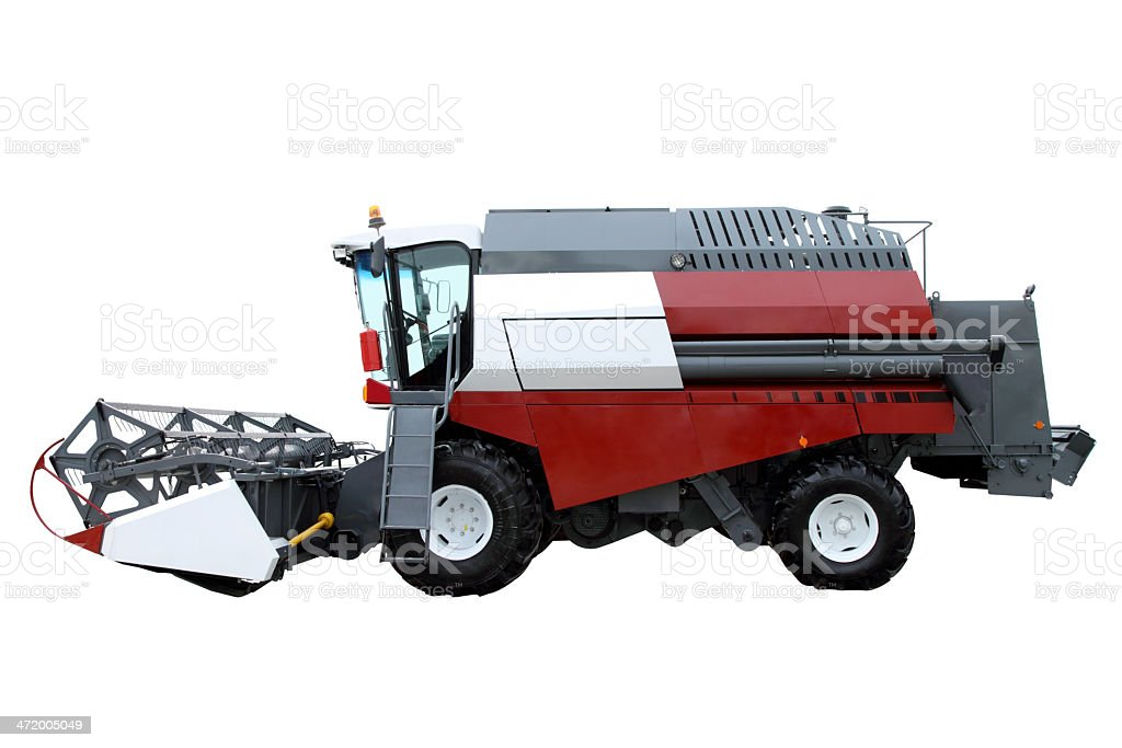 Red modern combine stock photo