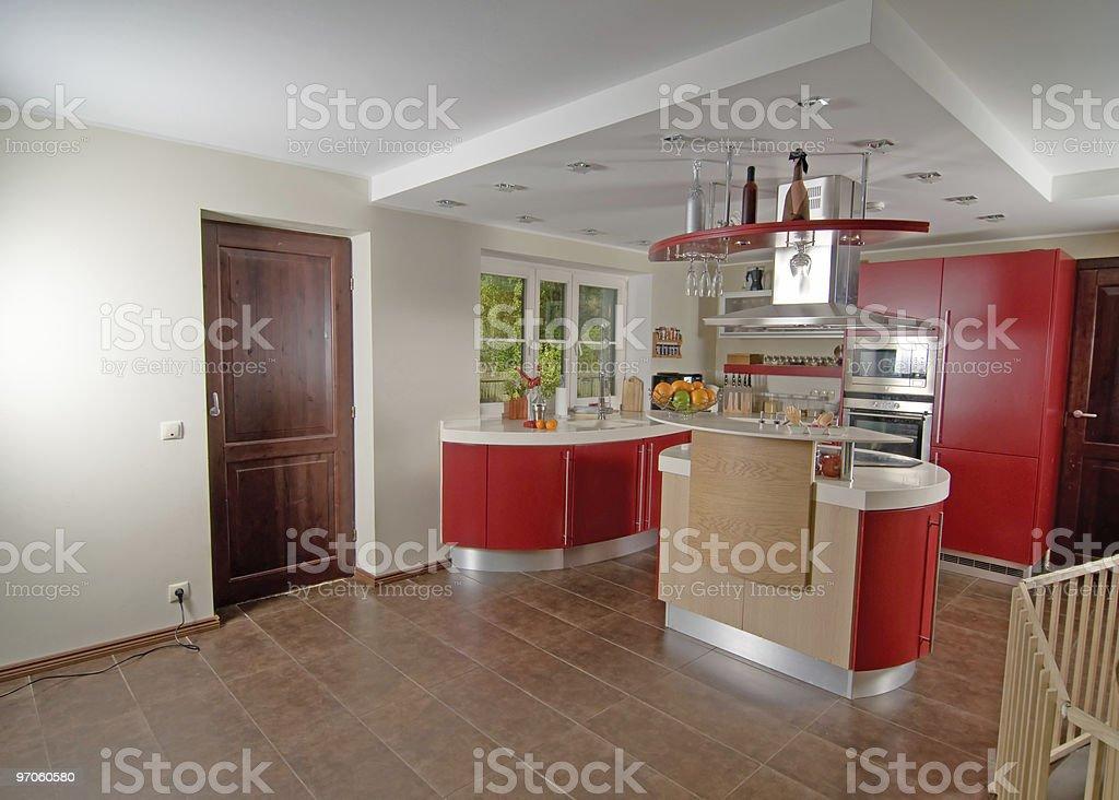 Cucina Moderna Rossa - Fotografie stock e altre immagini di ...