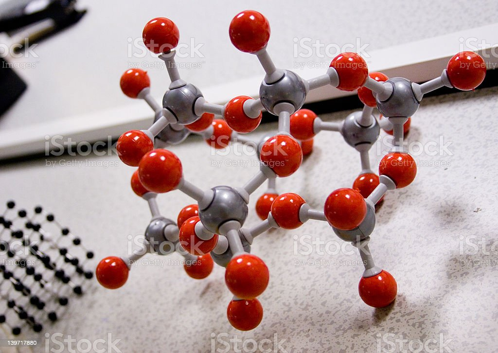 Red Molecular Structure royalty-free stock photo