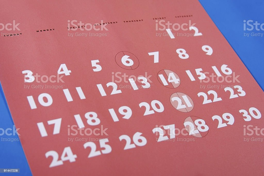 Red Month... royalty-free stock photo