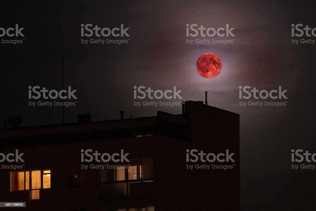 Roter Mond-bloodmoon – Foto