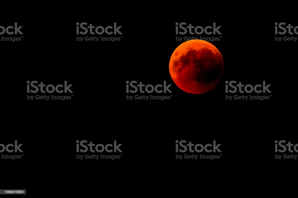 red moon in the Austria Alps stock photo