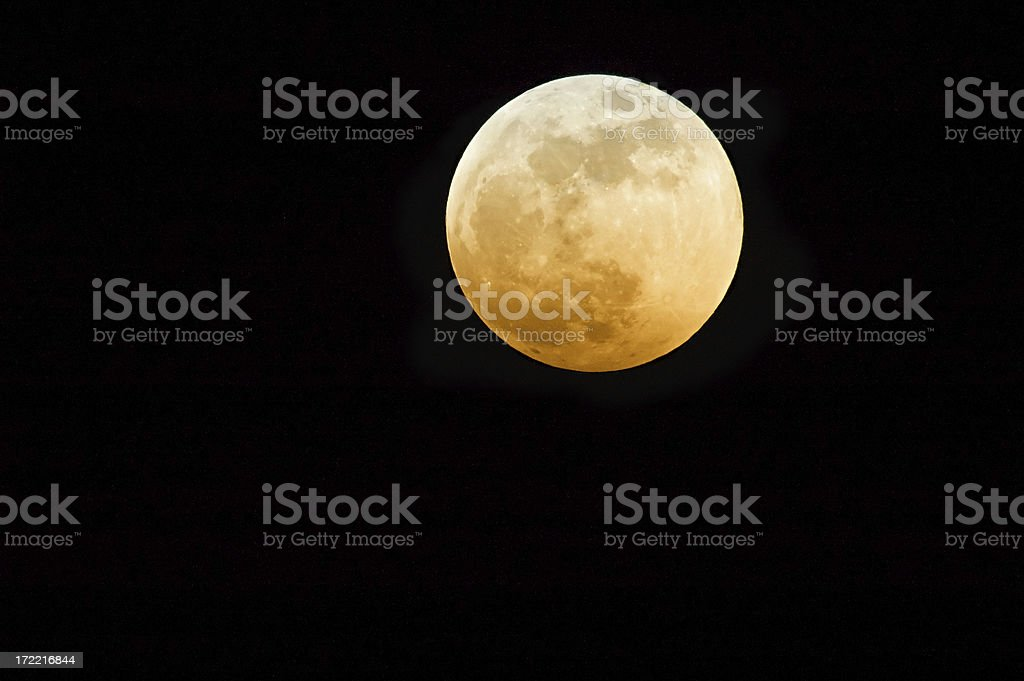 Red moon royalty-free stock photo