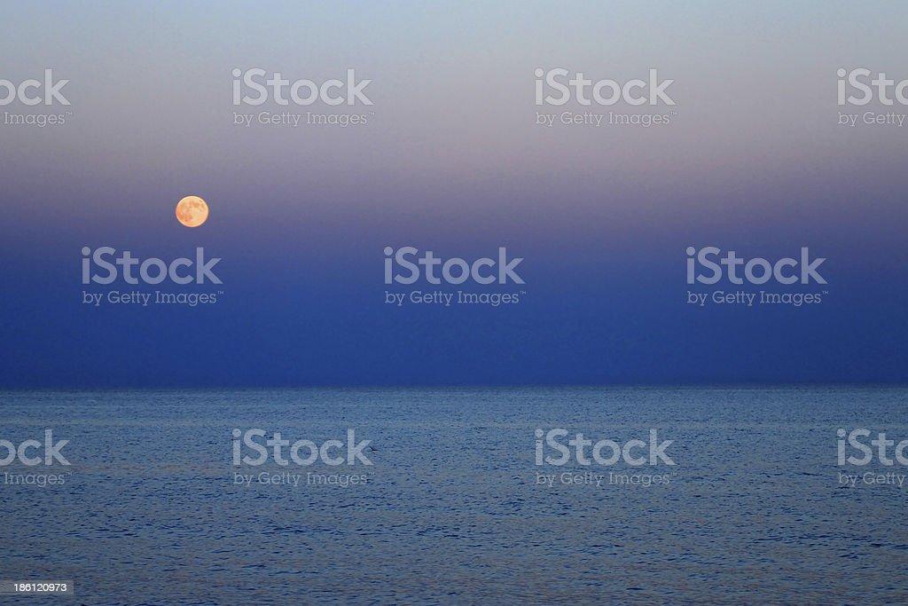 red moon blue sea - photo #37