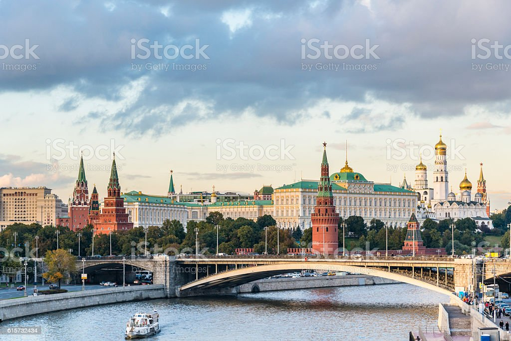 Red Moscow Kremlin, Russia - foto de stock