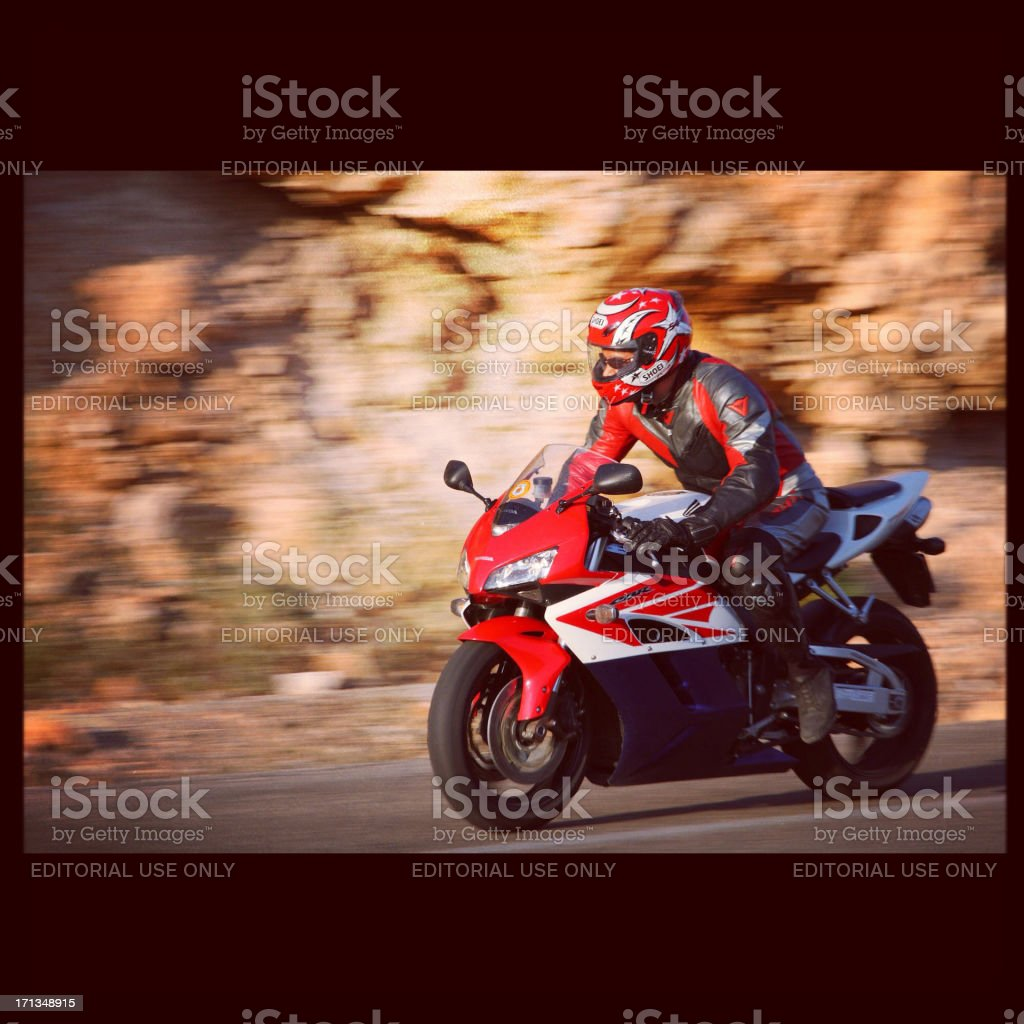 Red motorcycle. stock photo