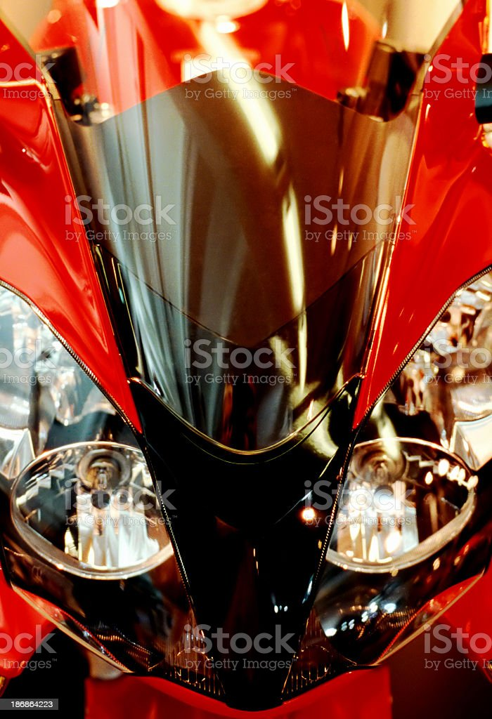 Red motorcycle royalty-free stock photo