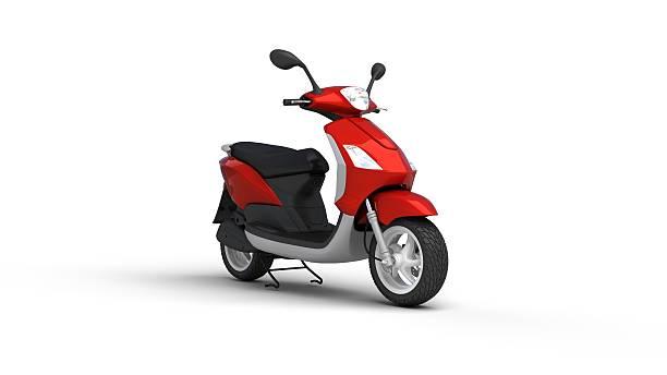 moto rouge - moped photos et images de collection