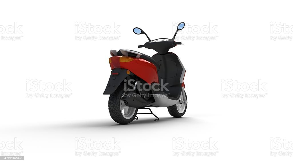 Red Motorcycle stock photo