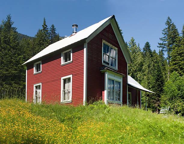 Red Mountain House stock photo