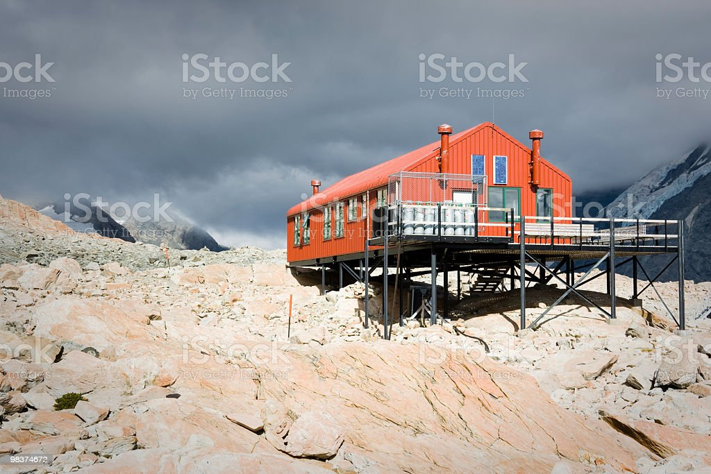 Red Mountain Hut royalty-free stock photo