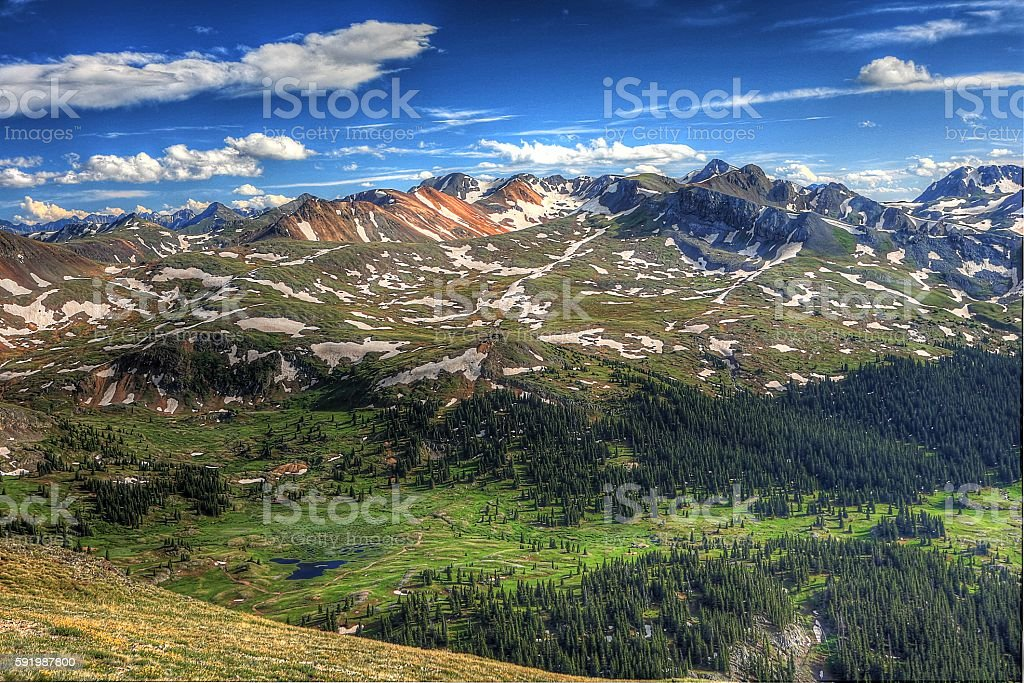 Red Mountains at Engineer's Pass stock photo