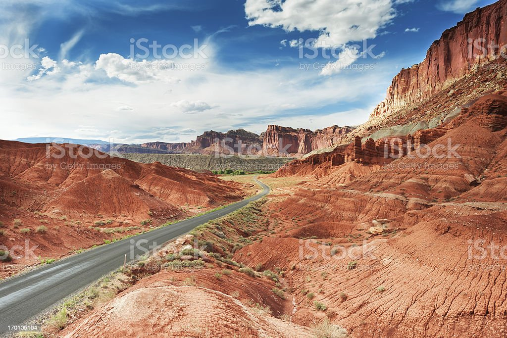 Red Mountains stock photo