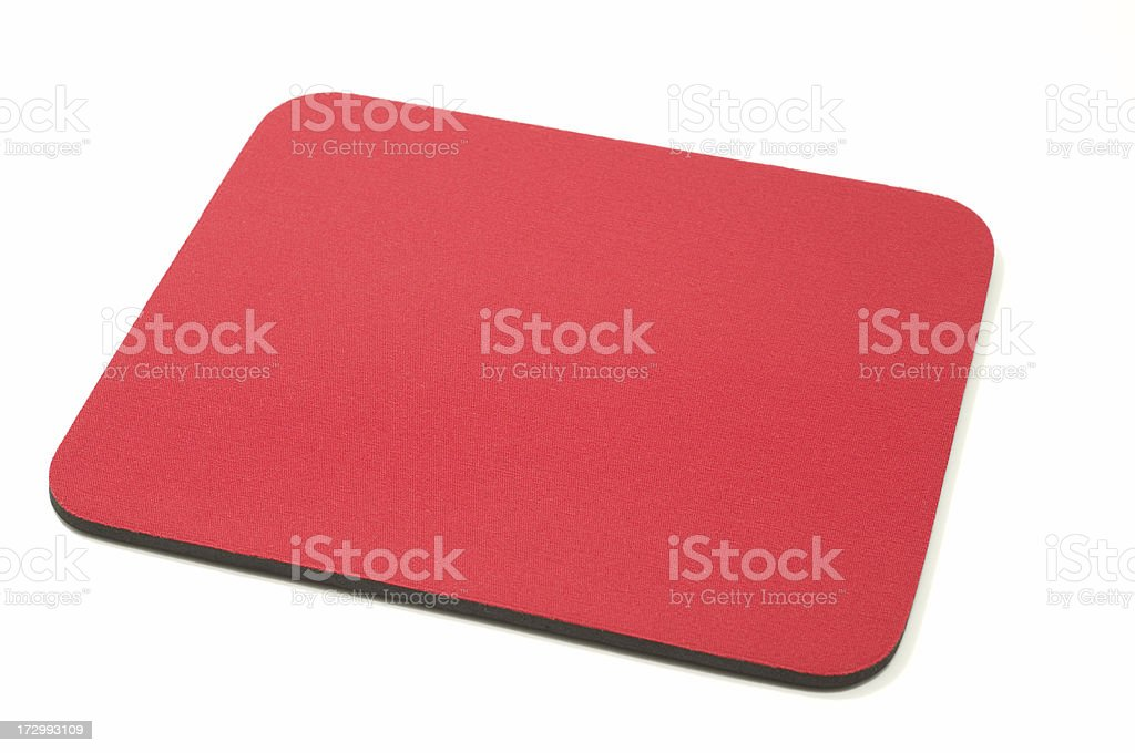 Red mouse pad royalty-free stock photo