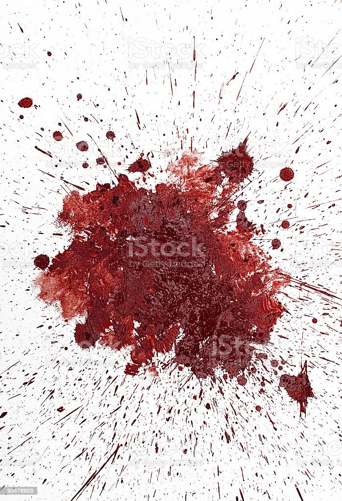 Red mud spatter looks bloody stock photo