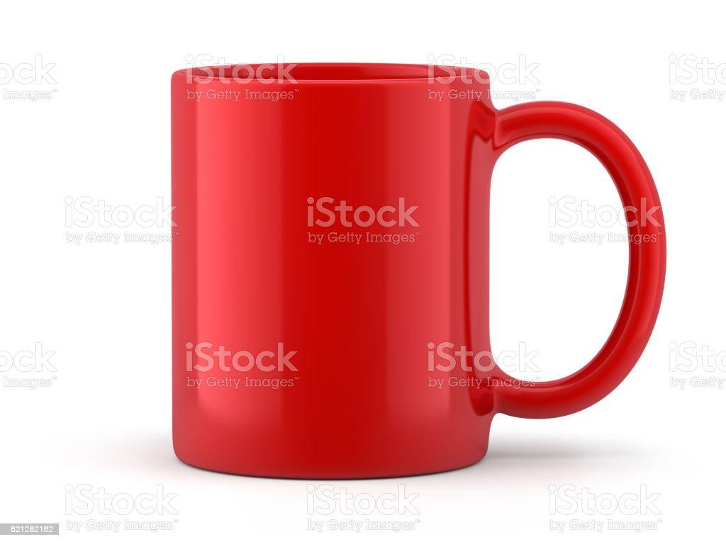 Red Mug Isolated stock photo