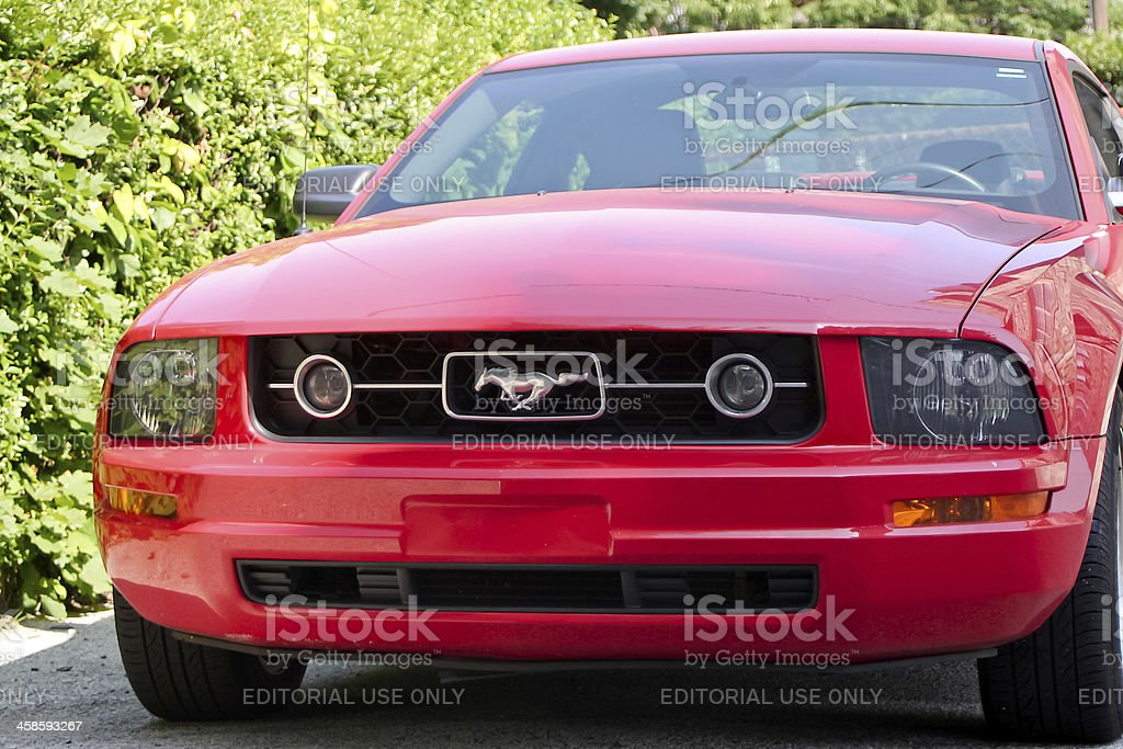 Red muscle car - Ford Mustang royalty-free stock photo